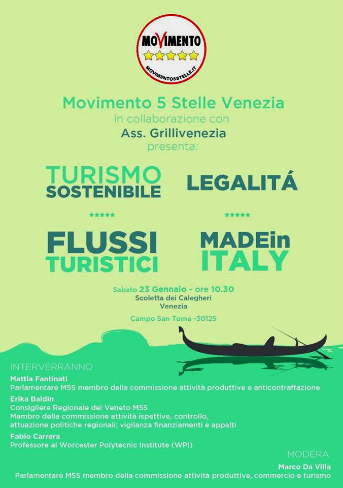 TURISMO SOSTENIBILE, FLUSSI TURISTICI, MADE IN ITALY E LEGALITA'